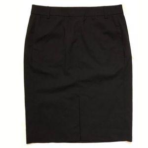 "Tory Burch black pencil wool skirt 24"" length"